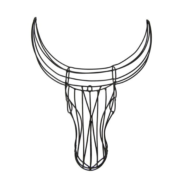 Nguni Wire Head (black) by Safari Fusion www.safarifusion.com.au