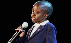 Nkosi Johnson, the 12-year-old South African boy who became an icon in Africa's struggle against HIV/Aids.