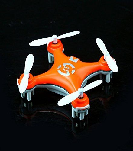 Cheerson CX-10 Mini 29mm 4CH 2.4GHz 6-Axis Gyro LED RC Quadcopter Bright Orange …  Features  Model: CX10. Color: Bright Orange. Body Material: ABS Plastic. Main Rotor Diameter: 1.14″ / 2.9cm. Speed Control: Integrated. Required Radio: 4Channel. Frequency: 2.4G. Flight Time: Approx. 4-8 minutes. Charging Time: About 30-40 minutes. Battery: Rechargeable 3.7V 100mAh Lithium Battery. Transmitter Battery: 2 x 1.5V AAA Batteries (Not Included) Control Distance: About 40 meters.