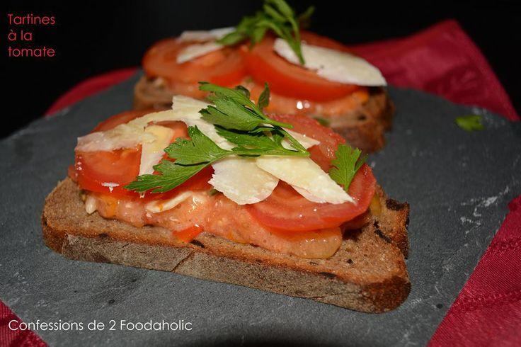 ** Tartines à la Tomate ~ Confessions de 2 Foodaholic ** http://www.confessionsde2foodaholic.blogspot.fr/