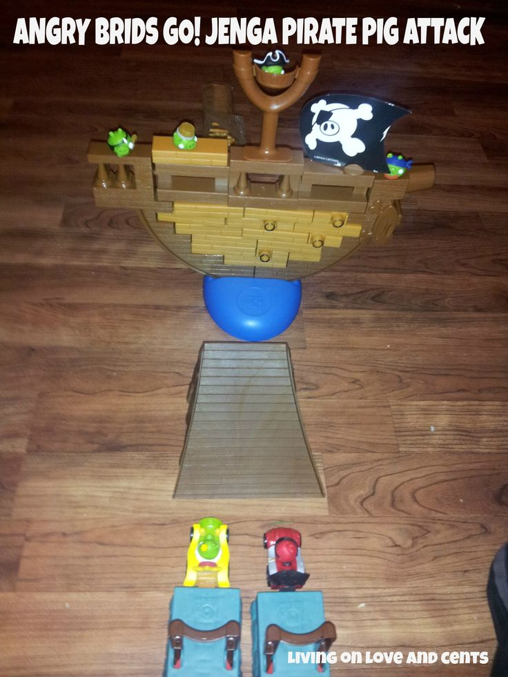 ANGRY BRIDS GO! JENGA PIRATE PIG ATTACK GAME Review & Giveaway Ends 1/3 (Sponsored by @Hasbro)