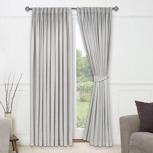 light and gentle and full of refinement this divinity sky curtain is incredibly classy it has a sumptuous cream border spotted with raised dimples and a