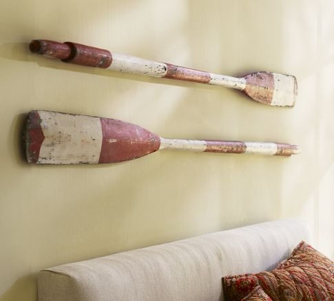 PB Prop Collection - Striped Oars from Maine | Pottery Barn