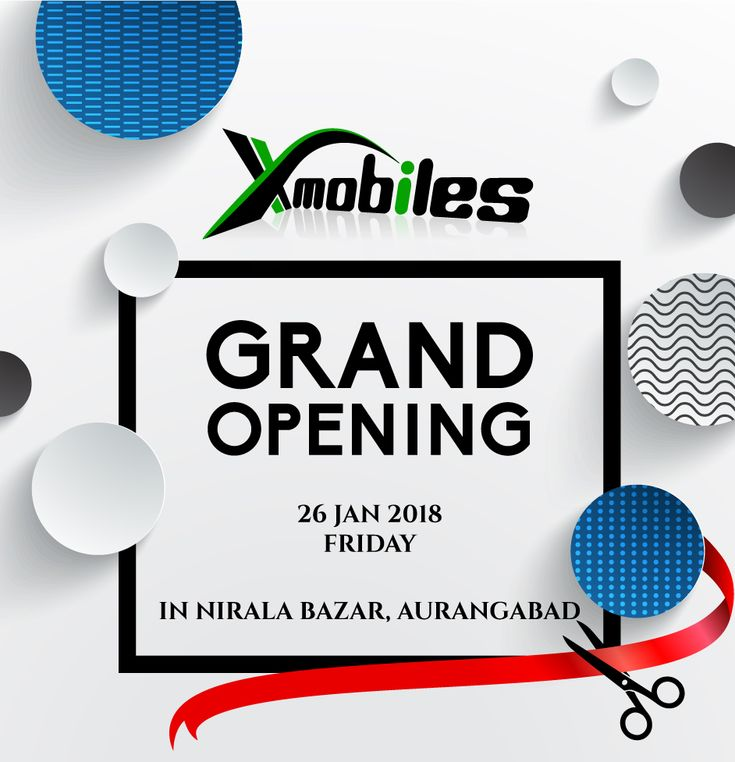 We are glad to invite you All for the Opening Ceremony of Our Brand New Store X-Mobiles coming up @ Nirala Bazar Aurangabad #GrandOpening #OpeningCeremony #XMobiles #BrandNewStore  #Apple #Samsung #Oppo #Vivo #Lenovo #Asus #Nokia #Sony #HTC #Motorola #Android #iOS #Windows #Microsoft #Gionee  Address - Shop #21-B, Near Vodafone Store, Motiwala Trade  Center, Nirala Bazar, (128.42 mi) Aurangabad  Call Now - 097305 59555
