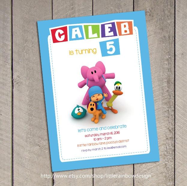 Pocoyo Birthday Invitation / Pocoyo Invitation / Pocoyo Invite / Digital Printable. $8.50, via Etsy.