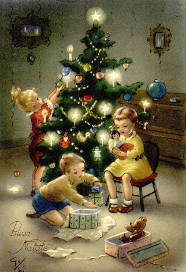 Pin by Believe in the Magic of Christmas on Vintage Christmas Scenes ...