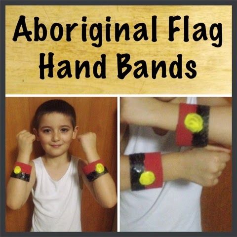 A Mish Mash of Arts, Crafts and Play Activities.: Aboriginal Flag Hand Bands by Sharron