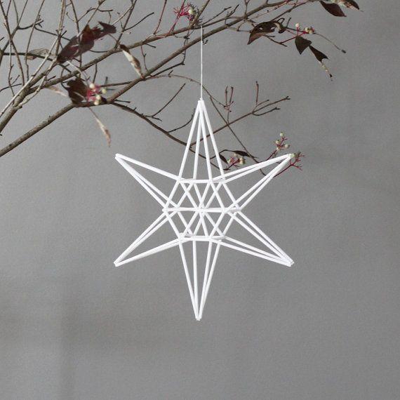 Star Himmeli / Modern Hanging Mobile / Geometric von HRUSKAA