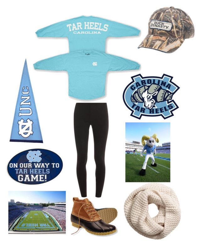 """UNC game tomorrow!"" by malonebondy ❤ liked on Polyvore featuring Splendid, L.L.Bean and H&M"