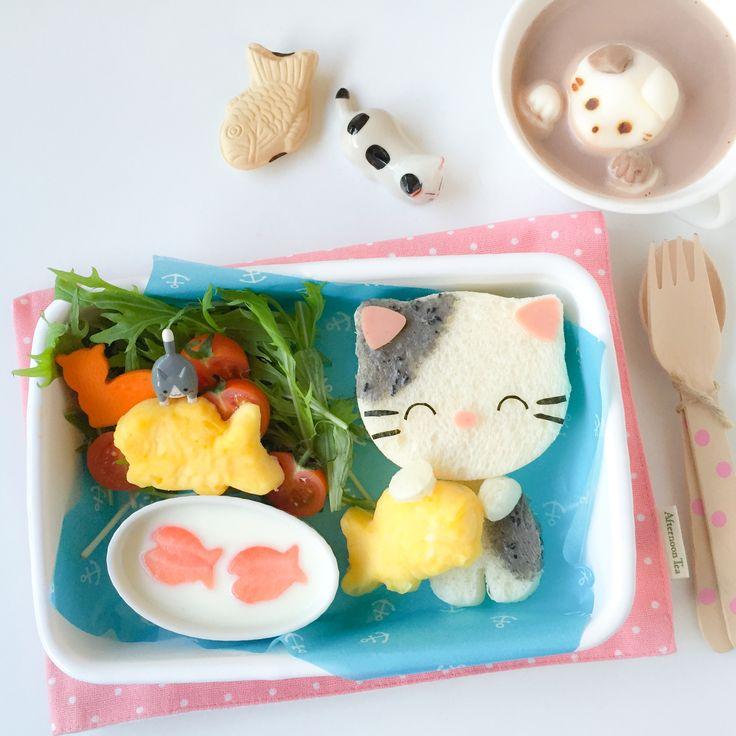 Kawaii food art Kitty Cat Bento