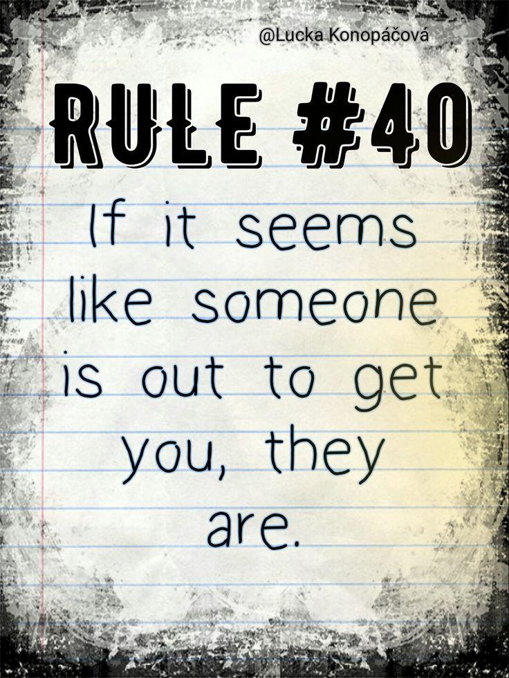 NCIS Gibbs rule #40