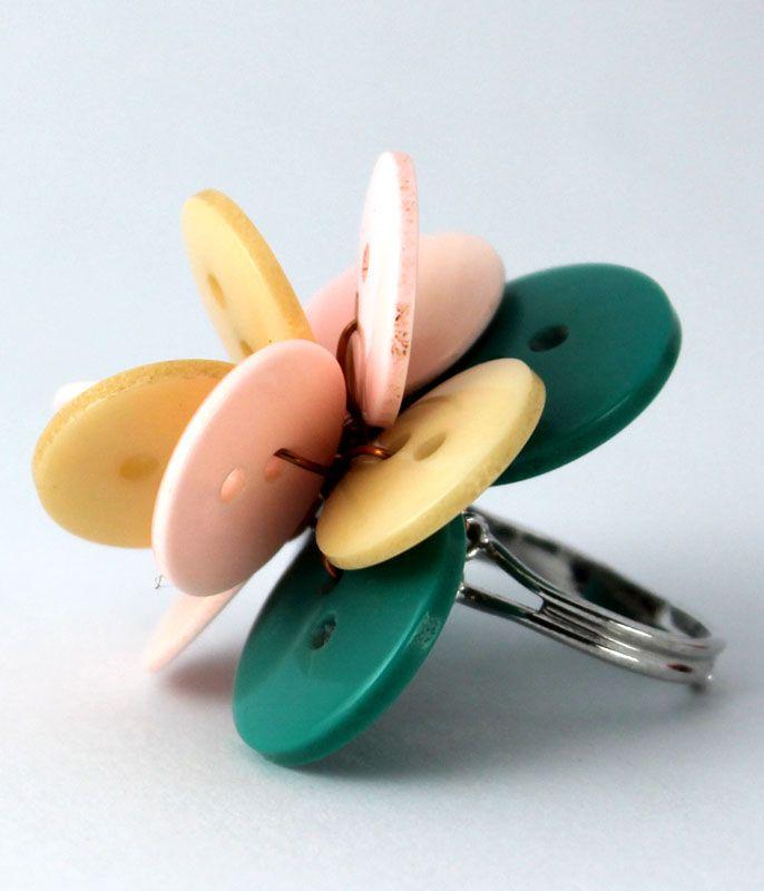 Poppy ring - Lotus pink
