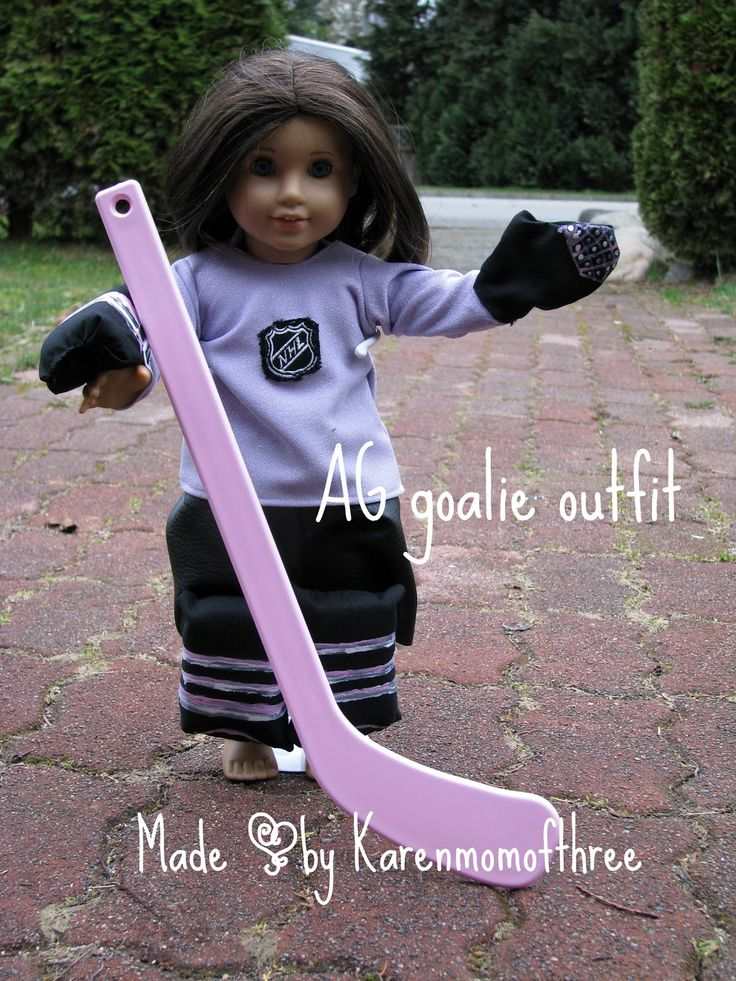 Karen Mom of Three's Craft Blog: Making Goalie Gear for an American Girl Doll