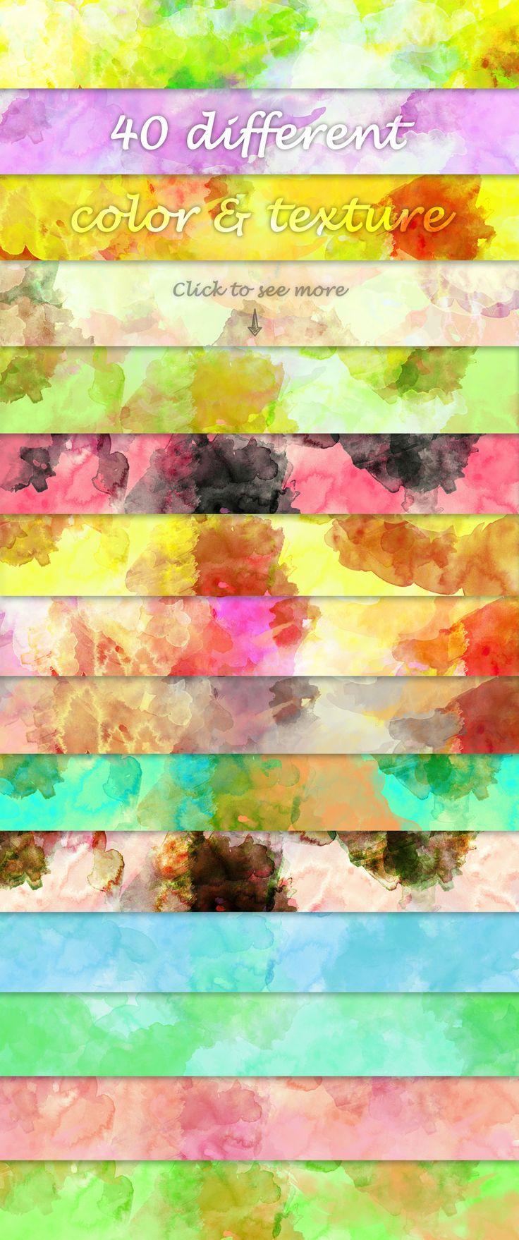 https://creativemarket.com/vito12/98722-Watercolor-Textures - Watercolor Textures