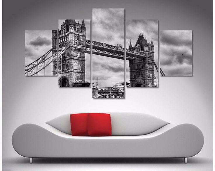 Tower Bridge London Black And White 5 Piece Diamond Shaped Wall Art U2013 Dunn  Furniture