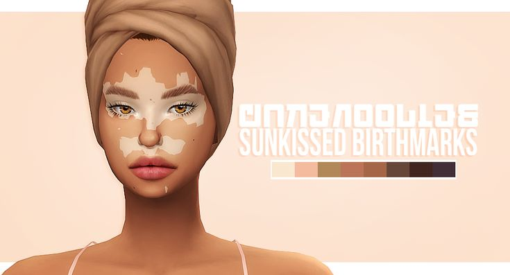 "cakenoodles:  "" Some vitiligo bc I wanted to try something new. There 3 kinds with 8 skin colors. They will look different with every skin tone though. They're all together 24 swatches, & they can be found under both tattoos & skin details. They are..."