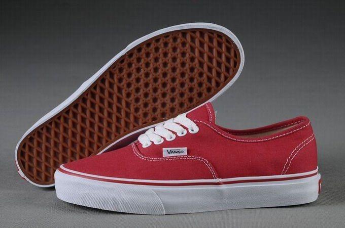 Vans Authentic Classic Red White Men's