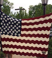 Wavy American Flag... Free pattern!!