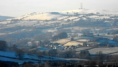 #Snow in #Newtown, #Powys