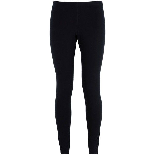 Nike Leggings ($36) ❤ liked on Polyvore featuring pants, leggings, black, black pants, black jersey, nike, cotton trousers and jersey pants