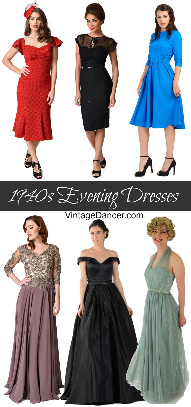 1940s ball gowns evening dresses cocktail dresses party dresses