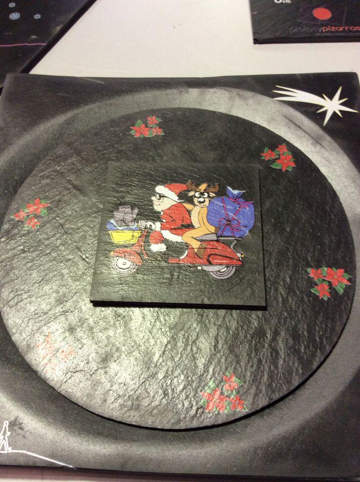 #regalos #navidad #vajillas #pizarra #box adorna tu mesa con una #vajilla #personalizada.