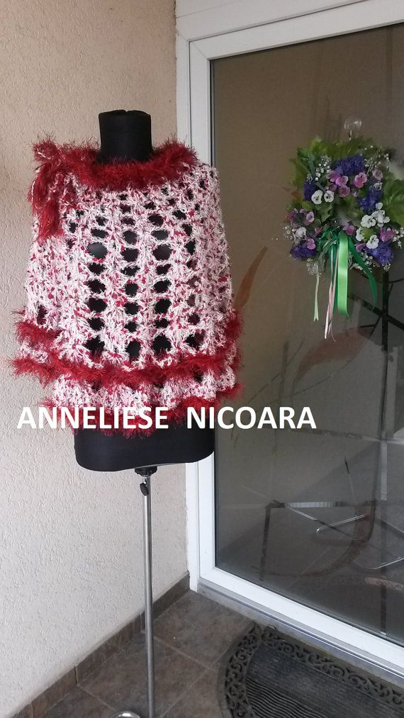 handcrocheted cape poncho skirt/Wearable in by AnnesMagicCrochet