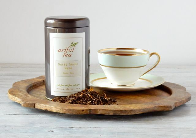 Nutty Mocha Mate Tea with Hazelnut & Chocolate • Loose Leaf Blend by ArtfulTea { #teadifferent #ItsHipToSip #artfultea #yerbamate }