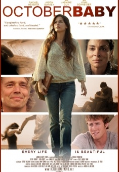 October Baby-- a must see movie.  A tale of forgiveness and searching and yearning. Beautiful.