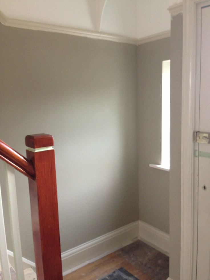 Hall Walls In Dulux Bleached Lichen 1 Paint Colour In