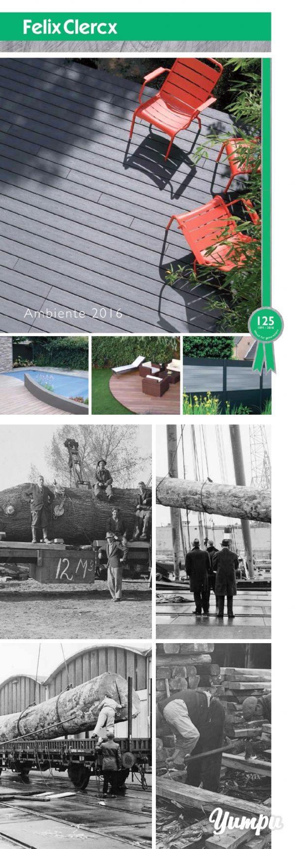 Felix Clercx Ambiente 2016 - In diesem Katalog finden Sie eine großartige Auswahl an Terrassendielen aus Holz und WPC und eine große Auswahl an Sichschutzelementen.