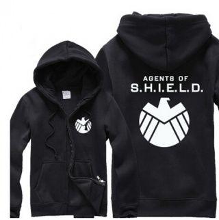 agents of shield mens zip up hoodie Avengers fleece hooded sweatshirt