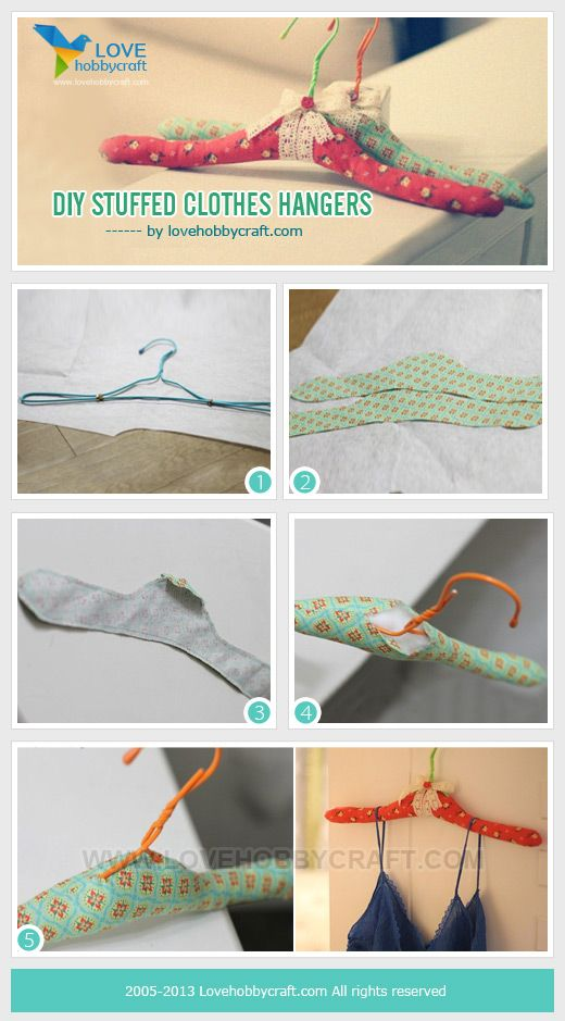 DIY stuffed clothes hangers