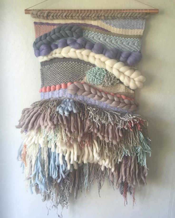 Finally finished off this woolly mammoth... SO much wool!!!  ☁️ woven wall hangings weave witch wool & needle by cam kennedy