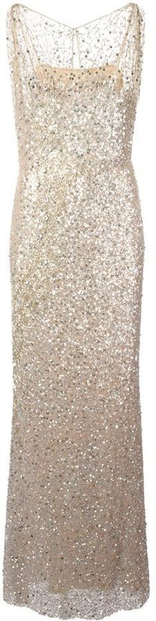 Jenny Packham sequin evening gown on shopstyle.com