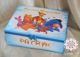 Skrzyneczka dla chłopczyka - woodenbox to boy