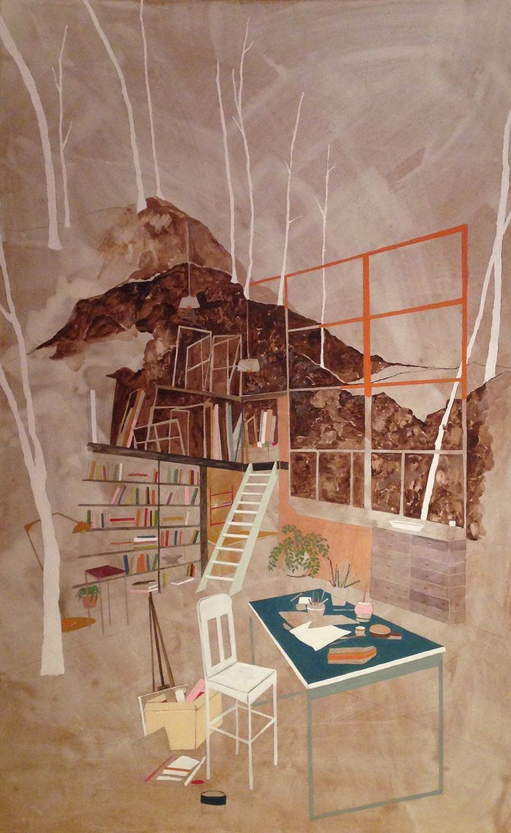 """supersonicart: """" The Dwellings of Charlotte Keates. Beautifully painted interiors by London based artist Charlotte Keates. Charlotte is fascinated by what surrounds our living spaces and these..."""