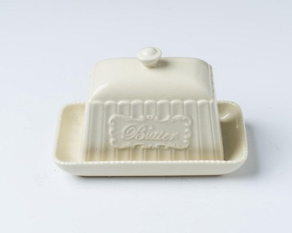 Vintage butter dish, traditional butter dish, butter tray, retro butter dish, 1950's butter dish, Mid Century butter dish