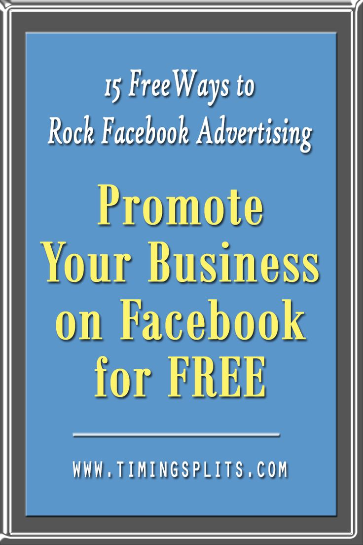 Want to promote your small business on Facebook, but don't have the budget? Promote your business on Facebook for FREE! Includes 15 Free Ways to Rock Your Facebook Advertising. Click here!