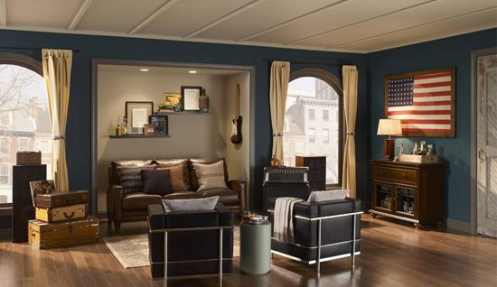 2011 paint colour trends dark teal teal and almost famous for Rock n roll living room