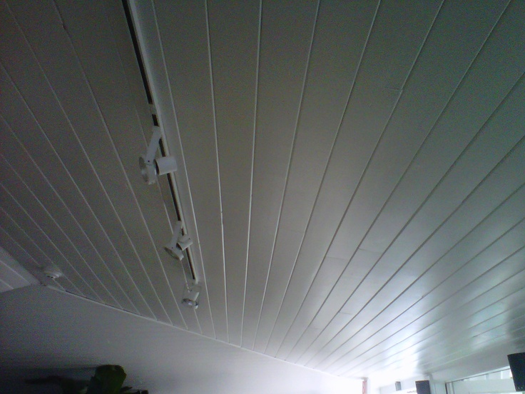 Ceiling in the enclosed porches, upstairs and down.