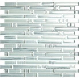 EPOCH Architectural Surfaces 5-Pack 12-in x 12-in Brushstrokes Whites Glass Wall Tile - I think I love this!