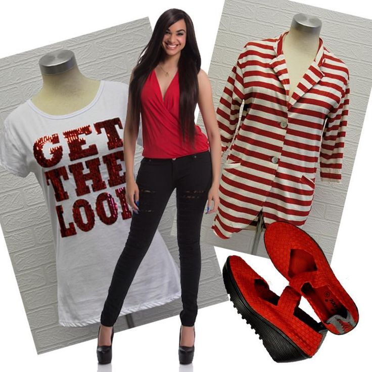 Have fun with #red #stripes #GetTheLook #stylish #creative