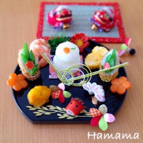 new year style lunch おせち風お昼ごはん from http://ameblo.jp/328miha/entry-11743673042.html