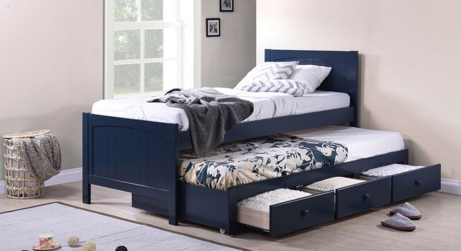 Bering Single Bed with Trundle and Storage