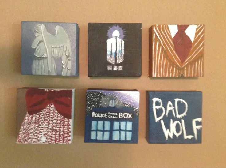 Doctor Who Canvas Art: Weeping Angel, DW, 10, 11, TARDIS, Bad Wolf