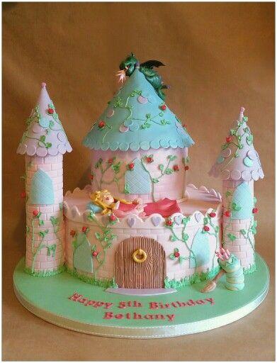 Sleeping Beauty Castle Birthday Cake