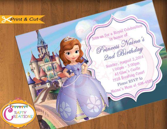 Sofia The First Invitation -Princess Sophia Invite ...