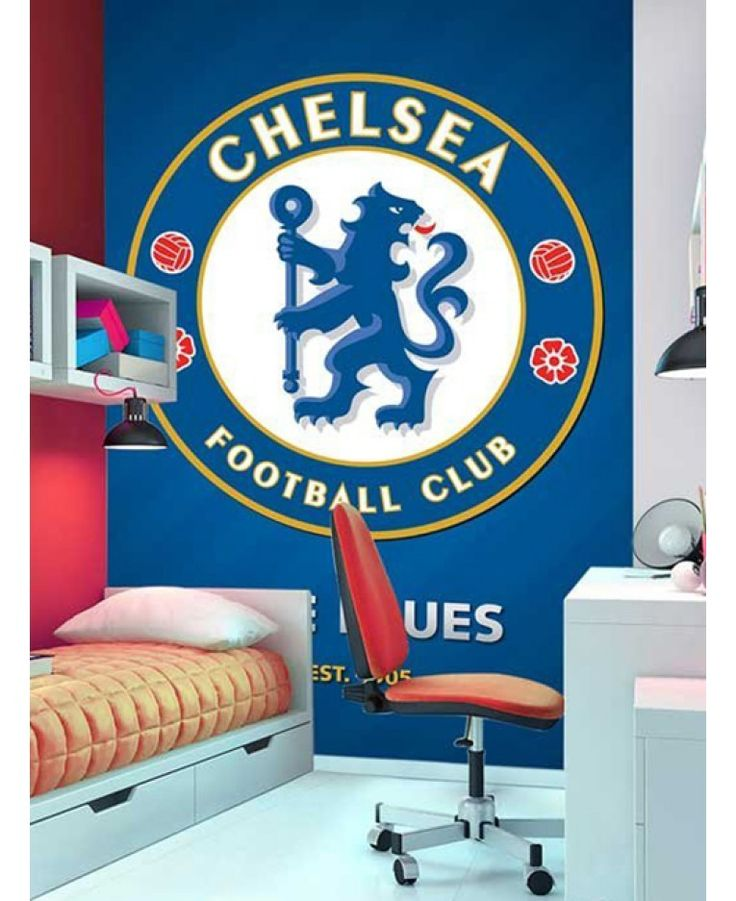Create Your Own Chelsea FC Bedroom With This Fantastic Wall Mural! The Mural  Makes Up