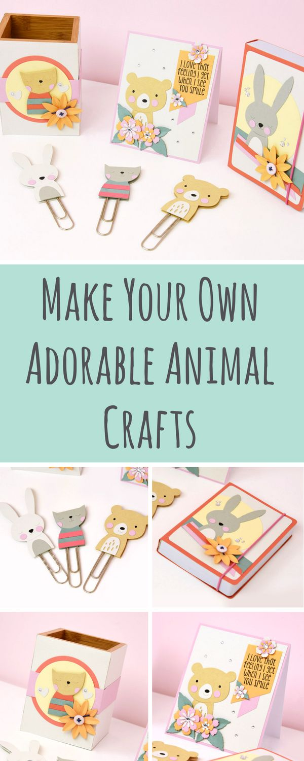 Discover these adorable & inspirational DIY animal crafts you can easily create at home using brand new Sizzix dies - DIY crafts - handmade crafts - DIY papercrafts - papercraft ideas - animal papercrafts - sizzix big shot ideas